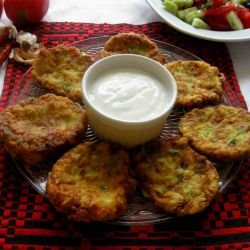 Zucchini Schnitzels with Feta and Cheese
