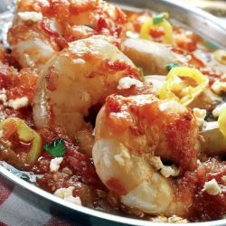Saganaki Shrimp