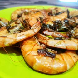 Shrimp with Leeks and Soy Sauce