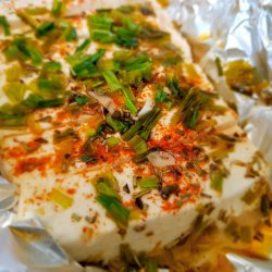 Feta Cheese with Spices and Baked in Foil