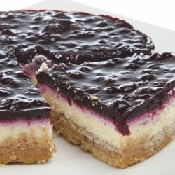Cheesecake with Frozen Blueberries