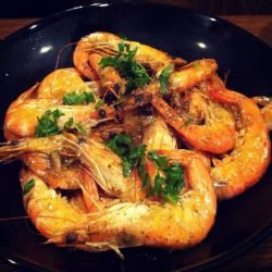 Shrimp in a Pan