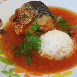 Baked Mackerel in Tomato Sauce
