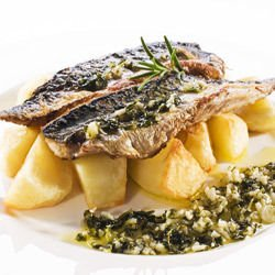Grilled Mackerel with Potatoes