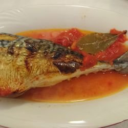 Mackerel with Tomatoes in the Oven