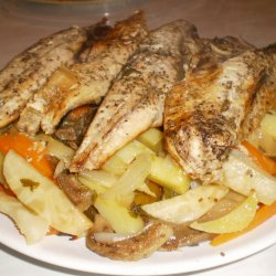 Baked Mackerel with Veggies in a Bag