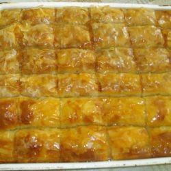 Sweet Phyllo Pastry with Orange Juice and Turkish Delight