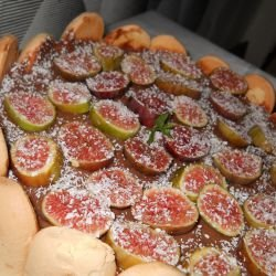 Pudding Cake with Figs and Biscotti