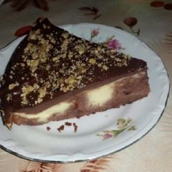Cake with 2 Types of Pudding