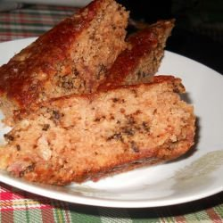 Cake with Strawberry Jam and Walnuts