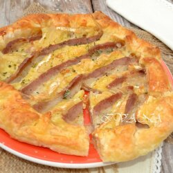 Savory Pie with Camembert and Bacon
