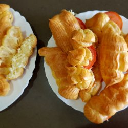 Savory Eclairs with Cheese