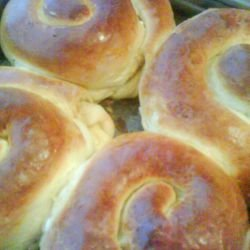 Dough Spirals with Feta Cheese