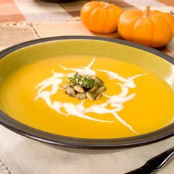 Cream of Pumpkin Soup with Leeks
