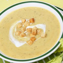 Russian Cream Soup with Croutons