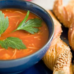 Tomato Noodle Cream Soup