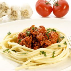 Spaghetti with Beef and Tomatoes