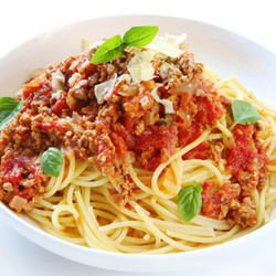 Spaghetti with Mushrooms and Tomatoes