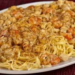 Spaghetti with Oranges and Shrimp