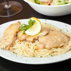 Spaghetti with Chicken and Lemon
