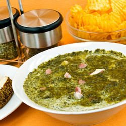 Spinach and Cottage Cheese Porridge