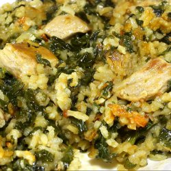 Spinach with Rice and Pork