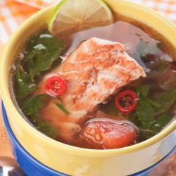 Fish Soup with Spinach