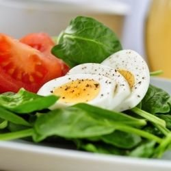 Spinach and Egg Salad