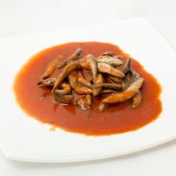 Fried Sprat with Tomato Salsa