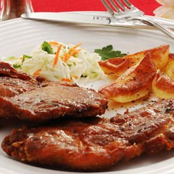 Oven-Made Steaks with Processed Cheese