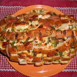 Stuffed Bread with Cheese and Feta Cheese
