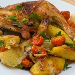 Roast Chicken with Onion