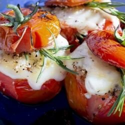 Tomatoes Stuffed with Feta and Herbs