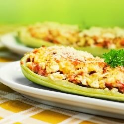 Oven-Baked Zucchini with Cheese