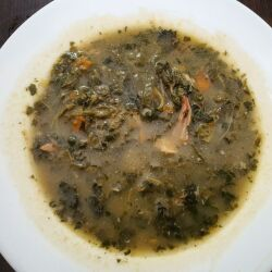 Dock, Chives and Beef Soup