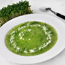 Spinach Soup with Rice