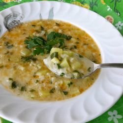 Zucchini Soup with Rice