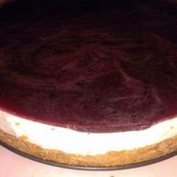 Raw Cheesecake with Blueberries