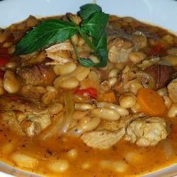 Easy Pork with Beans