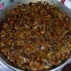 Smothered Pork with Mushrooms
