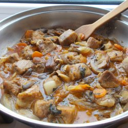 Pan-Fried Pork with Mushrooms and Onions