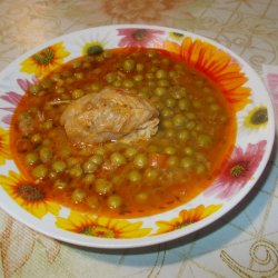 Pork with Canned Peas
