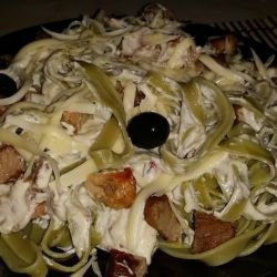 Tagliatelle with Cheese Sauce