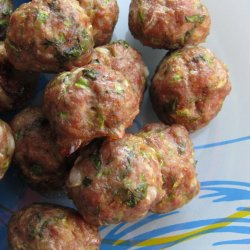 Minced Beef and Zucchini Meatballs