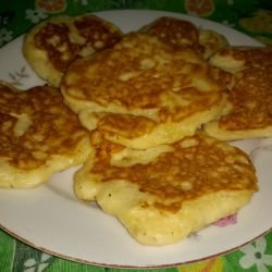 Fritters with Feta Cheese and Cheese