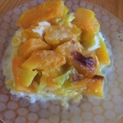 Healthy Dessert with Pumpkin in the Oven