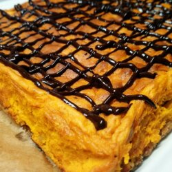Pumpkin and Quark Cheesecake with a Coconut and Biscuit Base