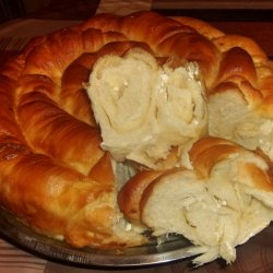 Rolled Out Phyllo Pastry with Yeast and Topping