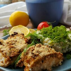 Baked Silver Carp with a Topping