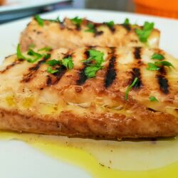 Grilled Marinated Silver Carp